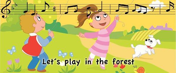 Canción jugando en el bosque inglés