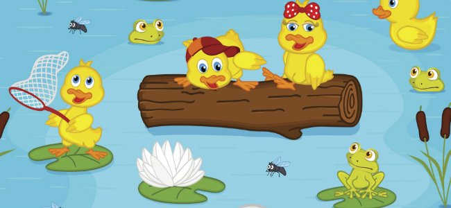 Los patitos canciones infantiles para ni os y beb s for Cancion infantil hola jardin