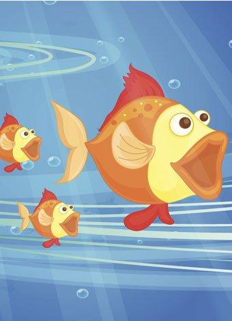 Villancico, los peces en el río