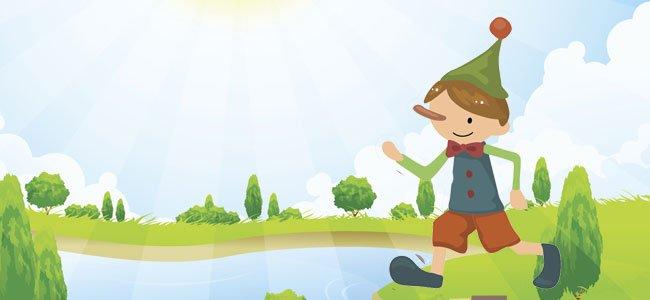 Pinocho fue a pescar