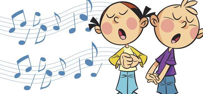 Resultado de imagen de dibujos de niños y música
