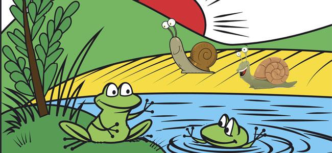 Fábula infantil Los caracoles