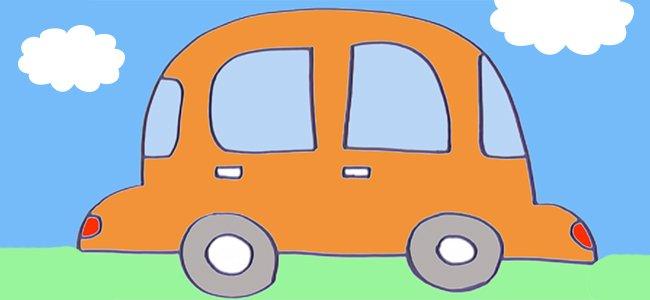 Dibujo de un coche.
