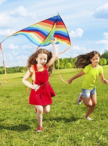 Cómo y dónde volar una cometa con los niños