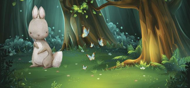 Por el bosque vi una liebre. Canción para bebés