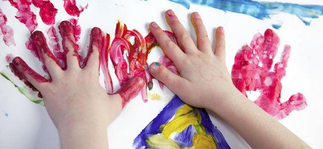 Pinturas con los dedos para niños