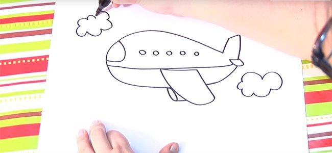 Dibujar un avión.