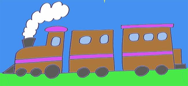 Dibujo de un tren.