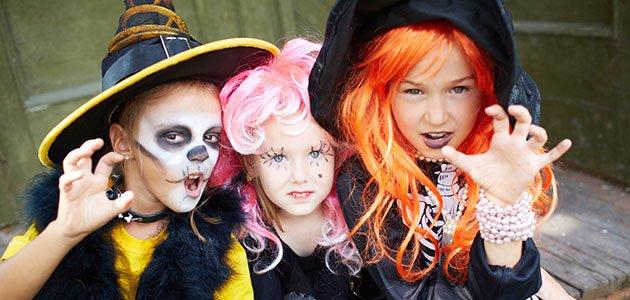 Niñas disfrazadas Halloween