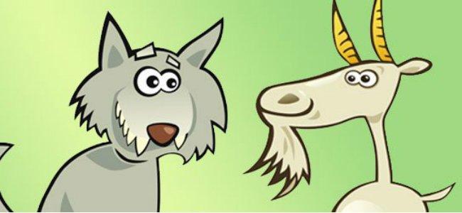 Fábula infantil de El lobo y la cabra