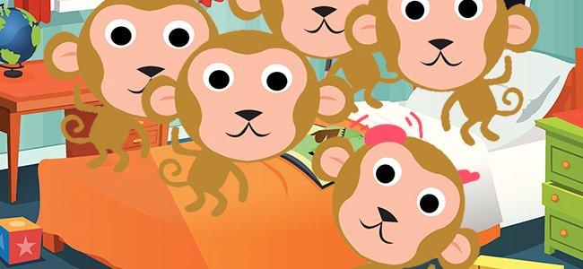 canción five little monkeys