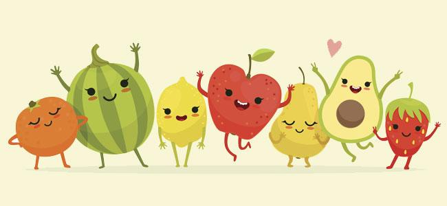 La familia de las frutas canci n de los payasos para ni os for Comedor de frutas para bebe