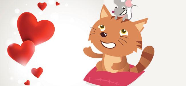 Poesía infantil sobre la amistad. La gata y el ratón