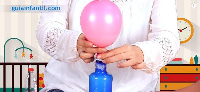 El globo se infla