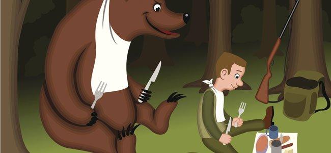 Cuento en verso. Los dos amigos y el oso