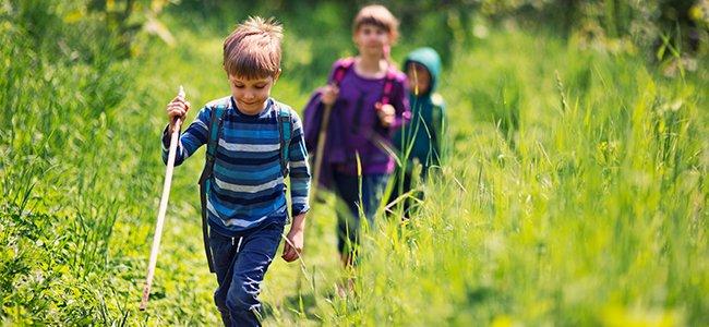 Senderismo en la infancia