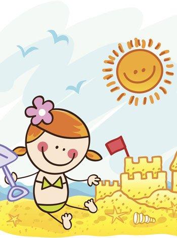 Itzelina y el sol