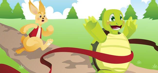 Fábulas para niños. La liebre y la tortuga