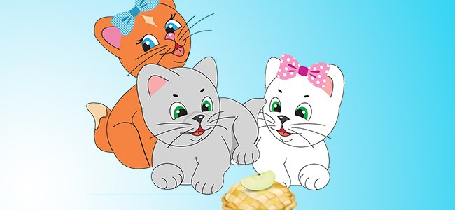 Canción en inglés Three little kittens