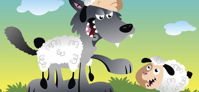 El Lobo Con Piel De Oveja. Fábula De Esopo Para Niños