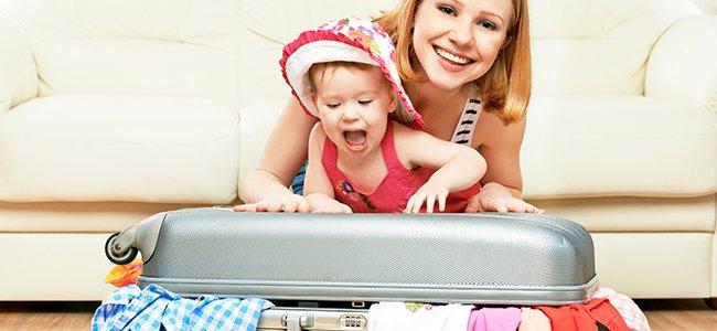 Cómo preparar la maleta de los niños