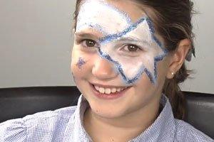 Maquillaje de estrella para niños