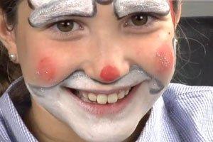 Maquillaje para niños de Papá Noel