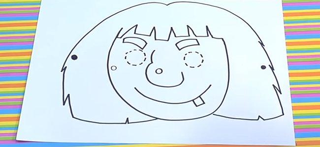 Dibujo De Cara De Bruja Para Colorear: Cómo Hacer, Paso A Paso, Una Máscara De Bruja