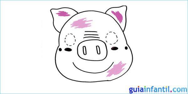 Careta de cerdo para pintar