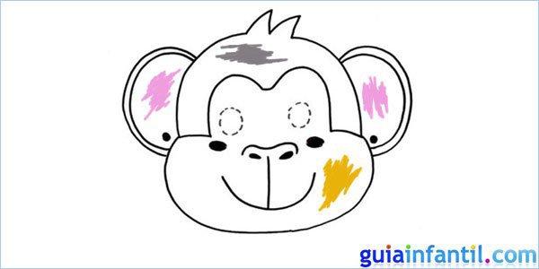 Cómo hacer, paso a paso, una máscara de mono