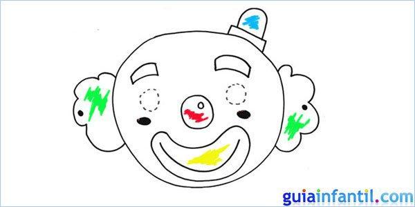 Máscara de payaso para dibujar y pintar