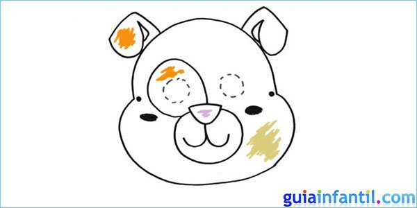 careta perro para pintar