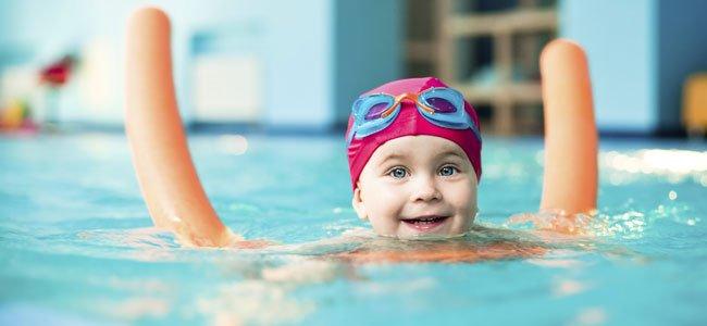 Materiales usados en clases de natación para bebés