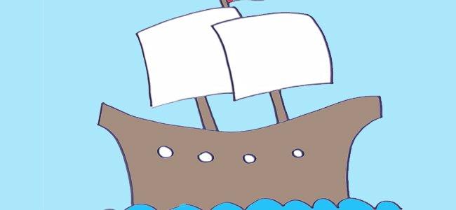 Dibujo de un navío.
