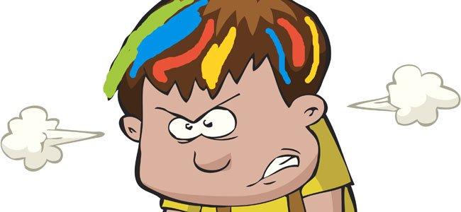 La cabeza de colores