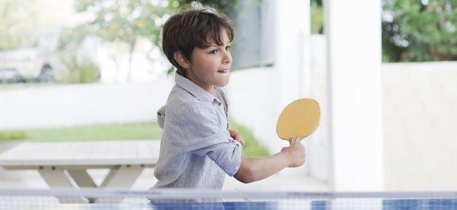 El ping pong y los niños