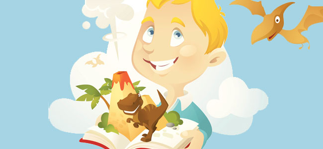 El niño y los dinos. Cuentos en verso para niños
