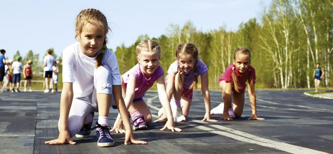 Niños atletismo