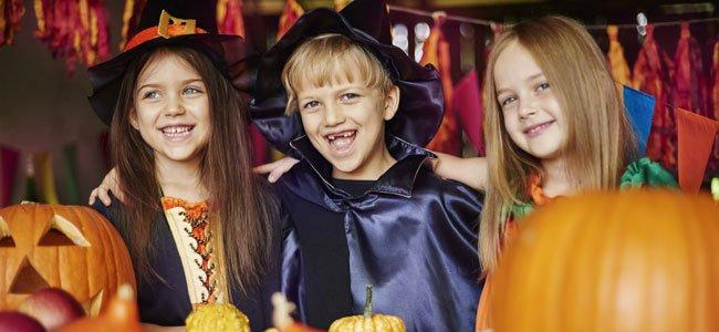Niños en Halloween