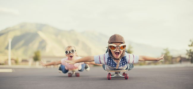 Beneficios del monopatín para los niños