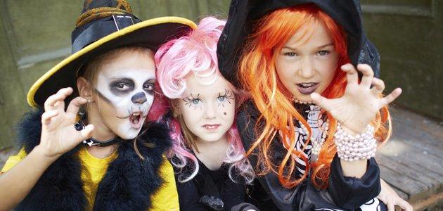 La noche de Halloween y los niños