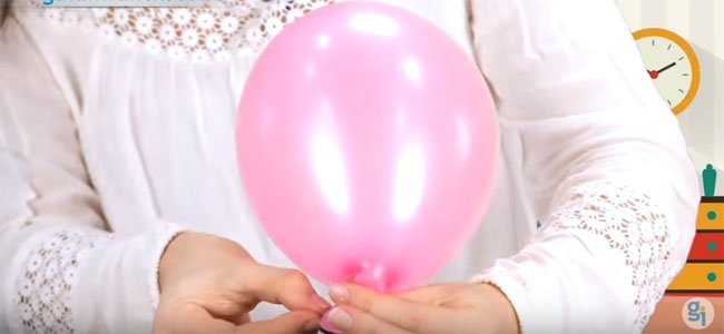 Hacer un nudo en el globo