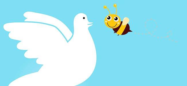 la paloma y la abeja. Fábulas cortas