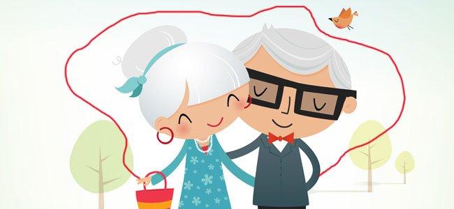 Ancianos con hilo rojo