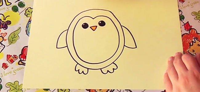 Aprende a dibujar un pingüino paso a paso