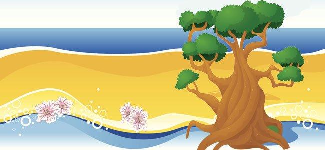 Árbol en playa