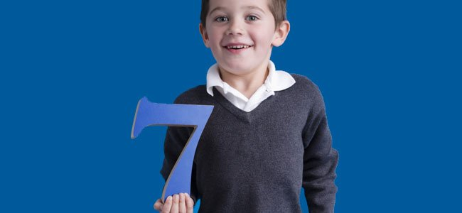 Poema para niños sobre el número 7
