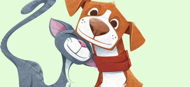Poema infantil sobre el perro y el gato