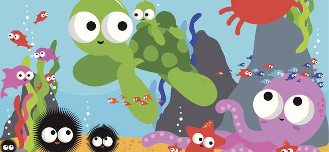 En el mar, poema para niños