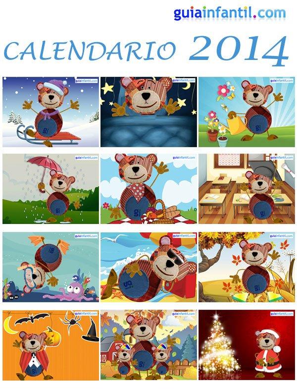 Calendario 2014 del oso Traposo para niños